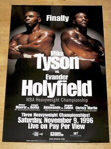 MIKE-TYSON-vs-EVANDER-HOLYFIELD-ORIGINAL-FIGHT-POSTER-1996-VINTAGE-RARE
