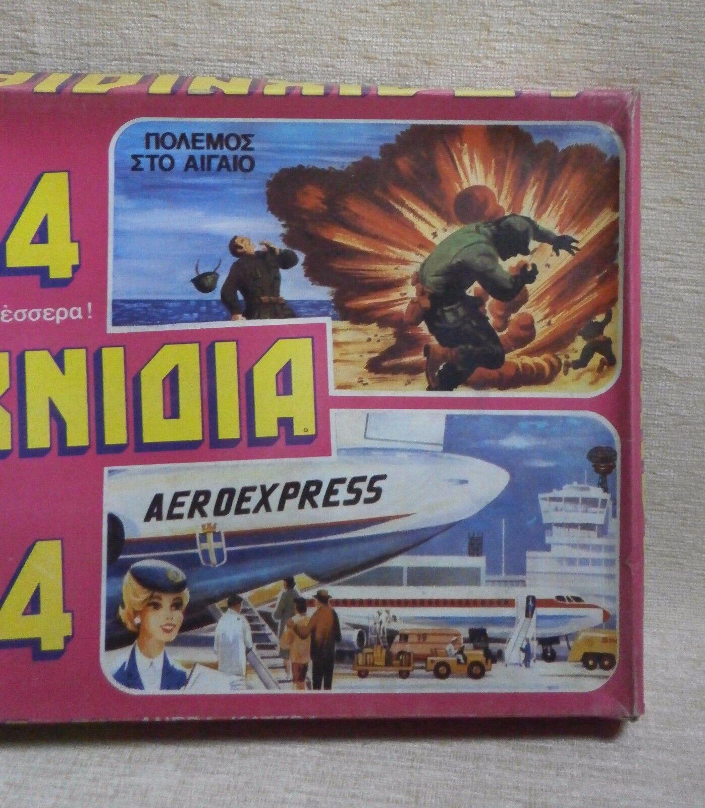 4 paihnidia  Nuovo con Scatola tavola gioco Anni'70 GRECO Polemos STO OLTREMARE GRe PRIX b26b29