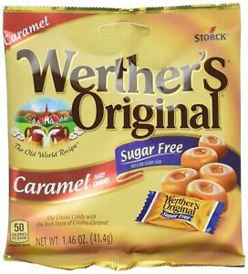 Lot-of-Six-6-Werther-039-s-Original-Sugar-Free-Caramel-Hard-Candy-1-46Oz-Bags