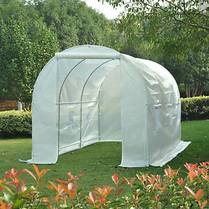 Outsunny-Walk-in-Greenhouse-Garden-Polytunnel-Plant-Grow-Tent-Galvanized-Frame