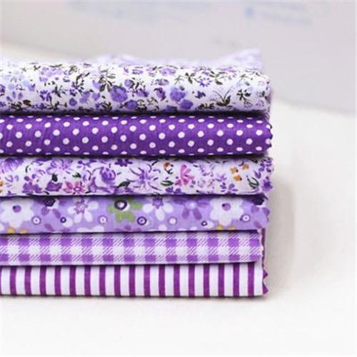 7PCS 25-50cm Assorted Pre-Cut Fat Quarters Bundle Charm Cotton Quilt Fabric P