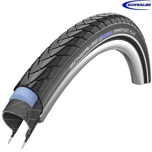Schwalbe Marathon Plus 26  x 1.35  (35-559) Reflective Anti-Puncture Bike Tyre