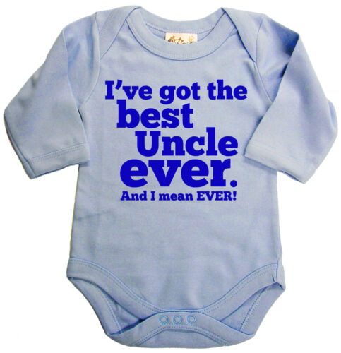 "Dirty Fingers Long Sleeve Bodysuit Baby grow /""I/'ve Got Best Uncle Ever/"" Boy Girl"