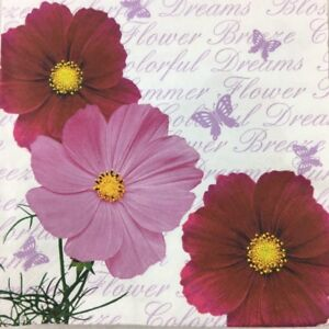 20 Paper Party Napkins Rosa Pack Of 20 3 Ply Luxury Serviettes floral