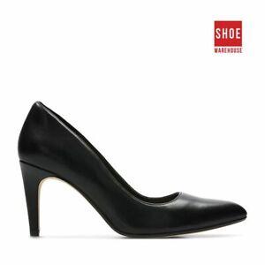 Clarks LAINA RAE Black Womens Heels Dress/Formal Leather Heels