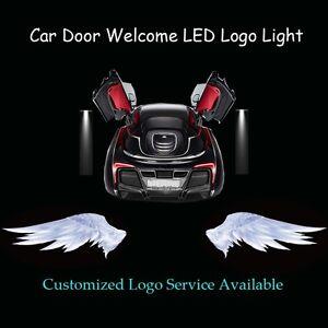 2x Angel Wings Logo Car Door Welcome Laser Projector Ghost Shadow