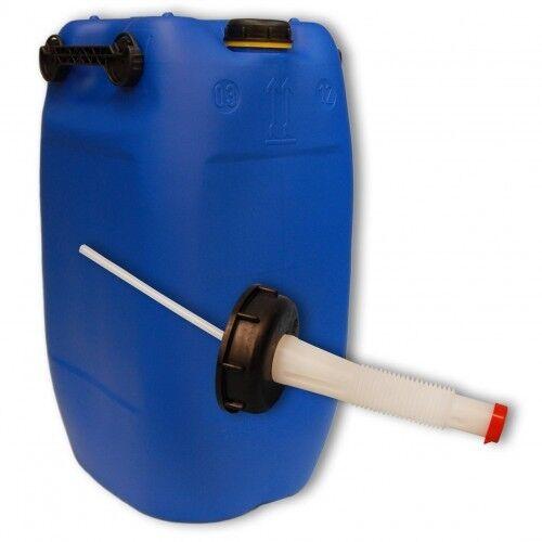 Bidon plastique 60 L Blau DIN 71+1 bec verseur flexible, Alimentaire (22047+046)