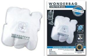 ROWENTA BAGS WONDERBAG UNIVERSAL ALLERGY CARE 4 BAGS ENDURA WB484720