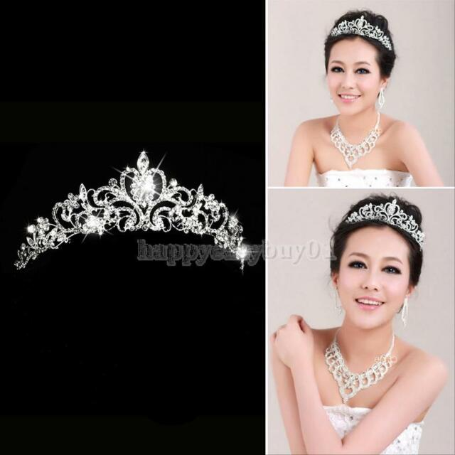 Princess Austrian Bridal Stunning Crystal Wedding Hair Tiara Crown