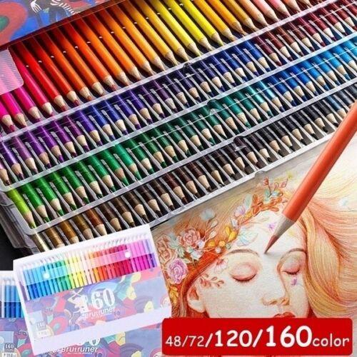 Colored Pencils Water-soluble Color Watercolor Pencils Lead 48//72//120//160 colors