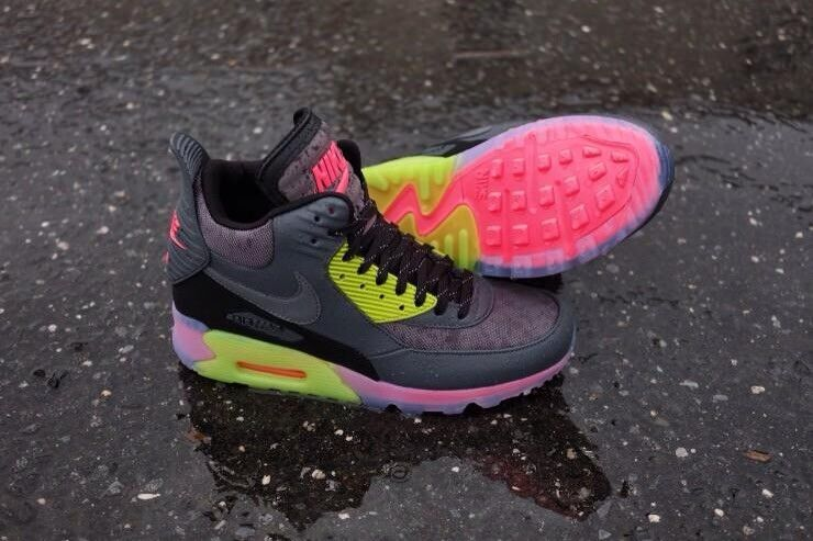 Nike Air Max Hyper 90 Sneakerboot Ice Hyper Max Punch Taille 8 Rare!!! 553052