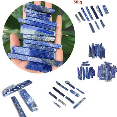 50G Natural Blue Stone Lapis lazuli Quartz Crystal Point Specimen Healing Stone