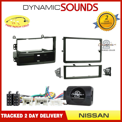 SingleDouble Stereo Fascia BOSE + Non Bose Stalk Fitting Kit for Nissan 350Z