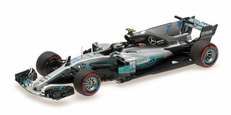 Mercedes W08 Valtteri Bottas 2nd Mexican Gp 2017 1:43 Model MINICHAMPS