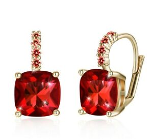 3-0-CT-Ruby-Swarovski-Crystals-18K-Gold-Plated-Leverback-Earrings-ITALIAN-MADE