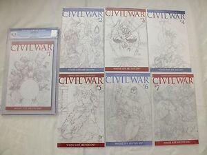 MARVEL-COMICS-CIVIL-WAR-1-7-TURNER-SKETCH-COVER-1-75-COMPLETE-SET-NM-M-1-CGC