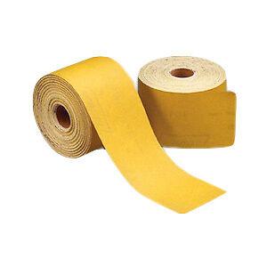 "Norton 2.75"" x 25yd 400 Grit PSA Sandpaper Dura Block GOLD Sticky Back Roll"