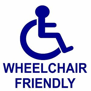 WHEEL//DISABLED CHAIR ACCESS STICKER MINIBUS TAXI SPANISH sillas de ruedas 2mtr