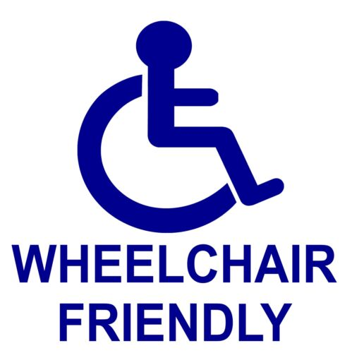 Disabled Wheelchair Friendly Sticker-Taxi-Disability-Mobility Sign-Handicapped