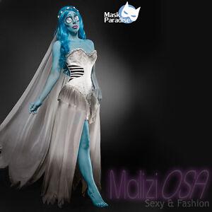 Costume-Halloween-Sposa-Cadavere-travestimento-Carnevale-cosplay-Corpse-Bride