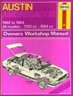 Austin Ambassador 1982-84 Owner's Workshop Manual by Peter G. Strasman (Hardback, 1984)