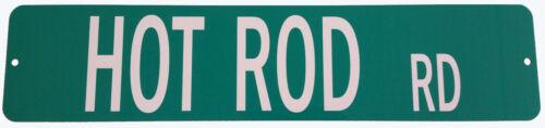 HOT ROD RD Street sign Sign Racing Sign Drag Race Gift Street Rod Garage Sign