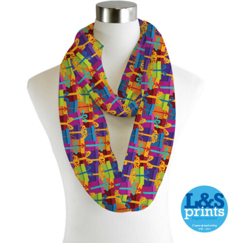 Infinity Loop Scarf Christmas Colourful Presents Lightweight Snood Cowl Gift
