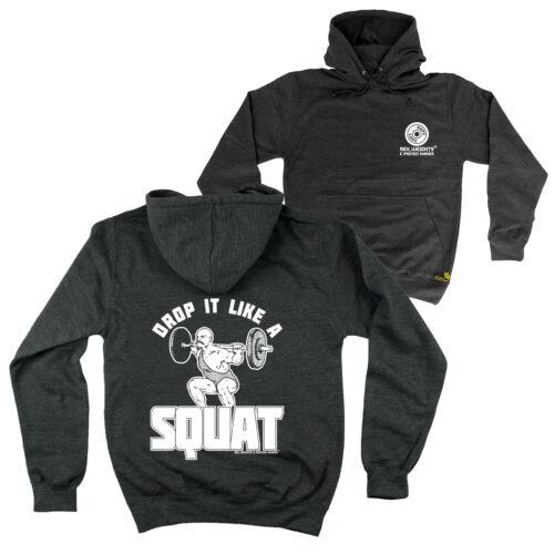 FB Gym Bodybuilding Hoodie Drop It Like A Squat Novelty Birthday Hoody Jumper