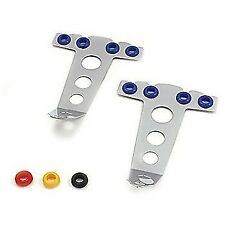 Spectre Chrome Spark Plug Wire Separator Holder Tall 4 Wire With Colored Grommets