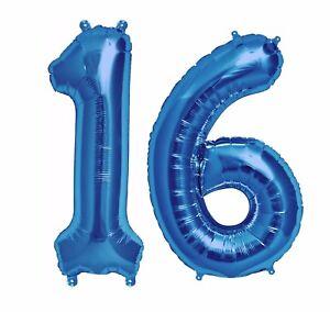 Image Is Loading Big 40 034 16 Blue Foil Number Balloons