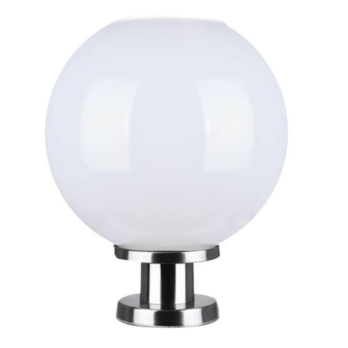 Solar Powered LED Wall Lamp Wall Light Lamppost Stainless steel Base 20cm