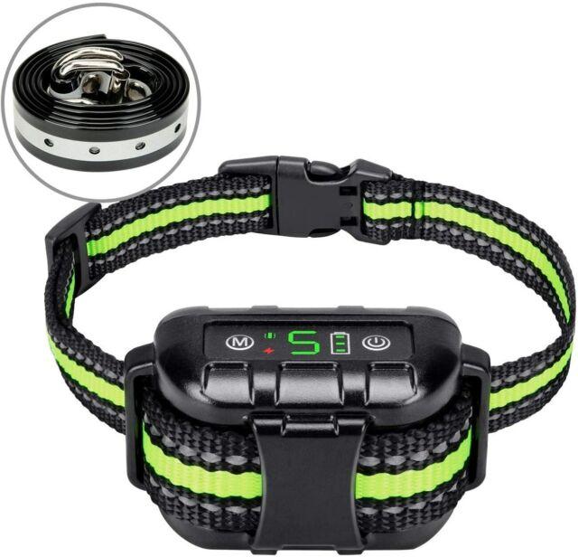 Anti Barking Collar Rechargeable Dog Shock Training Collar No Bark Waterproof l