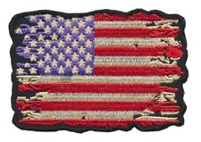 Khaki Subdued American Flag Stars /& Stripes Embroidered Patch Iron Sew BSPM0986