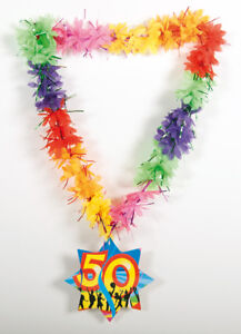HAWAIIAN-TINSEL-LEI-50TH-BIRTHDAY-AGE-NECKLACE
