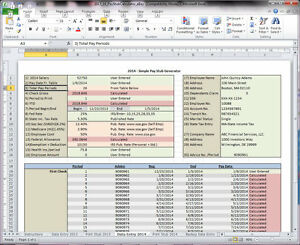 Excel Pay Stub Generator Calculator and Printer - Easy Custom ...