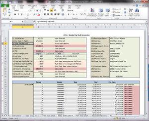 Excel Pay Stub Generator Calculator and Printer - Easy Custom Template