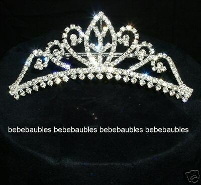 Bridal Wedding Tiara Comb Crown Crystal Wedding Bridesmaid Gift Silver Sp T31