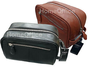 Osprey Wash Bag Mens Toiletries Toiletry Travel Brown Or Black Leather