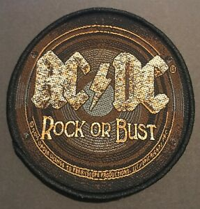 AC-DC-Rock-or-Bust-Woven-Sew-On-Patch-Official-Licensed-Band-Merch