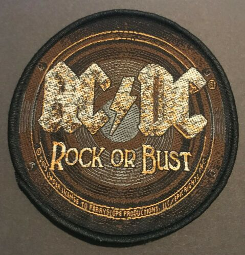 AC//DC Rock or Bust Woven Sew On Patch Official Licensed Band Merch