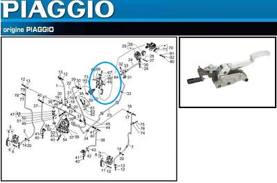 Levier frein gauche Teknix pour Scooter Piaggio 250 Mp3 Lt Apr/ès 2009 Neuf