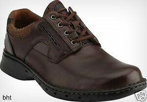 new clarks unstructured mens unravel casual oxford brown