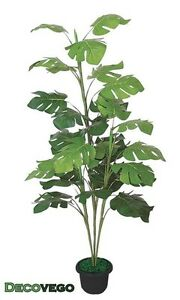 monstera fensterblatt kunstpflanze kunstbaum k nstliche pflanze 150cm decovego ebay. Black Bedroom Furniture Sets. Home Design Ideas