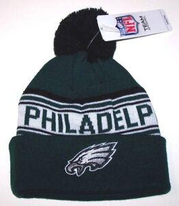 Nwt New Philadelphia Eagles Logo NFL Football Beanie Cap Hat Green ... 84a02fd3d858