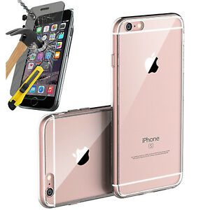 Toxic-Thin-Grip-Clear-Gel-Case-Tempered-Glass-Screen-Protector-For-Iphone-6S