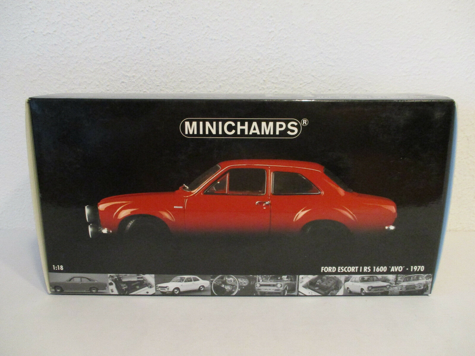 (Gol ) 1 18 Minichamps Ford Escort I RS 1600 1600 1600 AVO 1970 NEUF Emballage Scellé 27c562