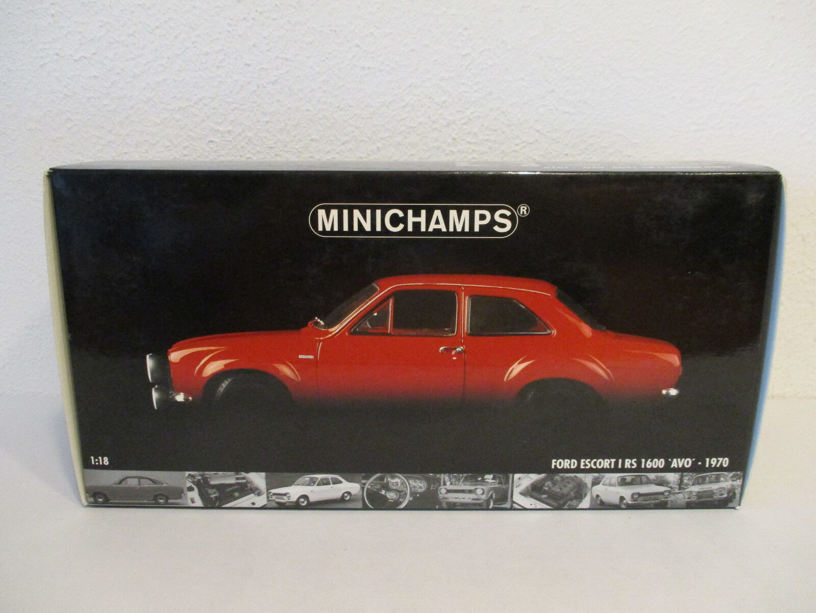 (Gol ) 1 18 Minichamps Ford Escort I Rs 1600 Avo 1970 New Original Package