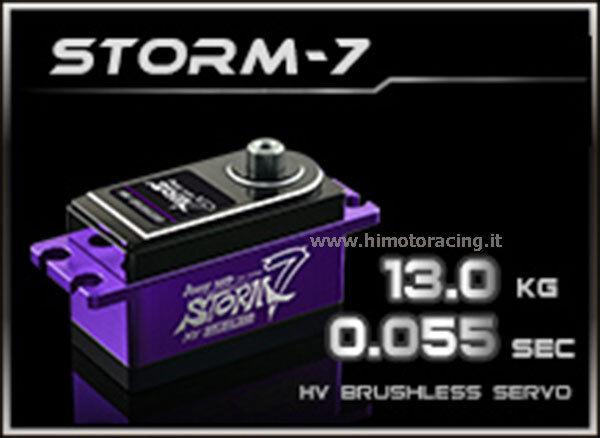 HD-STORM 7 energia Hd Storm-7 Servo Digitale 13kg  8.4V HV Brushless Basso Profilo  presa di marca