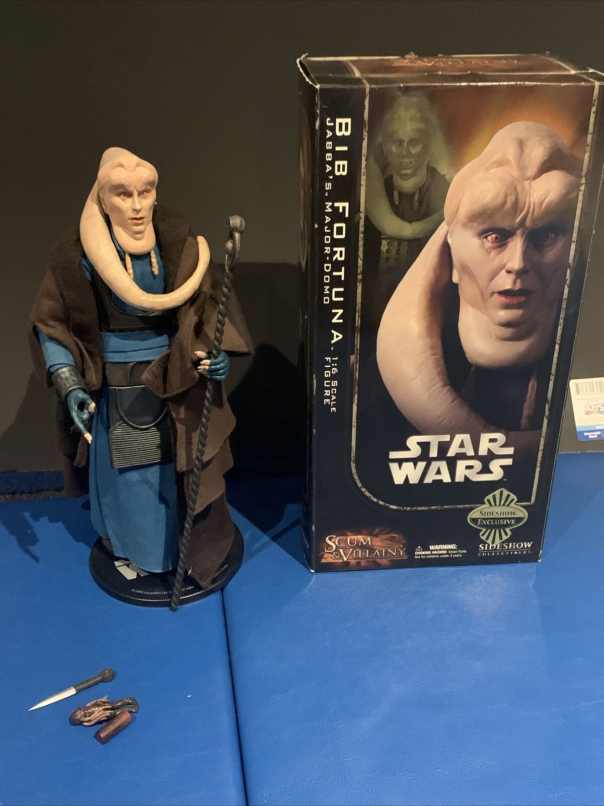 "Sideshow Collectibles: Exclusive Star Wars Scum & Villainy 12"" BIB FORTUNA  2006 on eBay thumbnail"