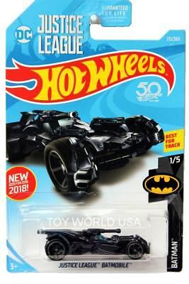 NEW 2018 Hot Wheels Int Justice League Batmobile 211//365 HW Batman 1//5